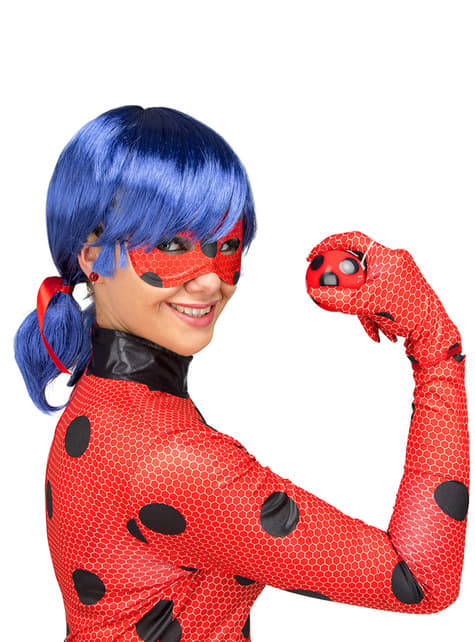 Disfraz de Ladybug con peluca para mujer - mujer