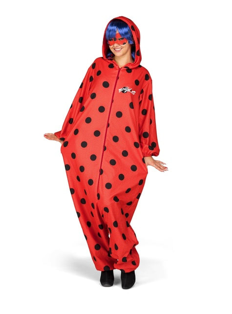 Fato de Ladybug onesie para mulher