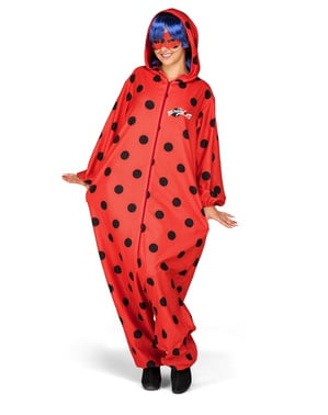 Ladybug onesie costume for women