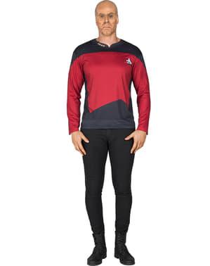מבוגרים קפטן פיקארד מסע בין כוכבי חולצת טריקו
