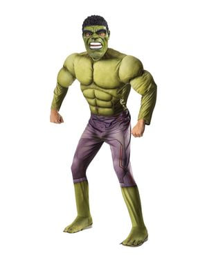 Pánský kostým s vyrýsovanými svaly Hulk