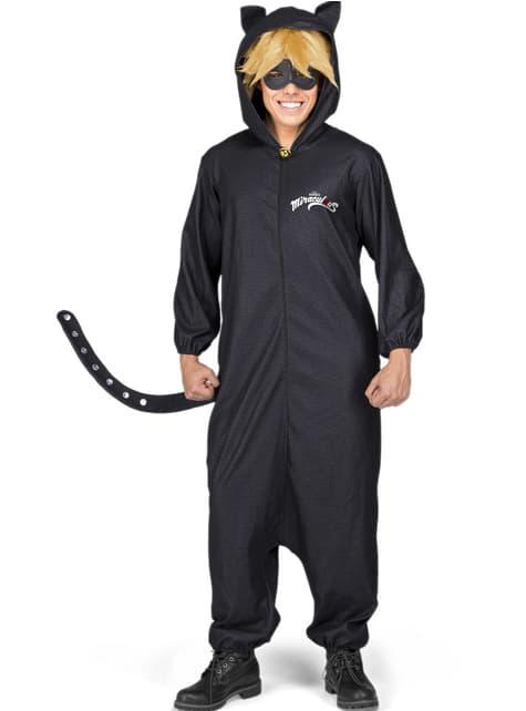 Disfraz de Cat Noir Las Aventuras de Ladybug onesie para adulto