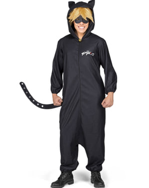 Cat Noir Приключенията на Ladybug onesie за възрастни