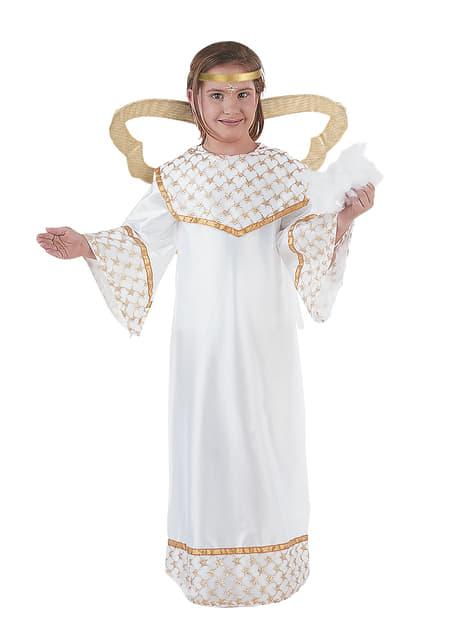 Déguisement d'ange doré pour fille