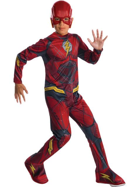 Fato de Flash A Liga da Justiça classic para menino