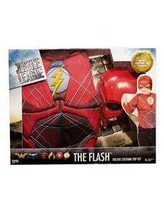 Disfraz de Flash La Liga de la Justicia musculoso para niño en caja