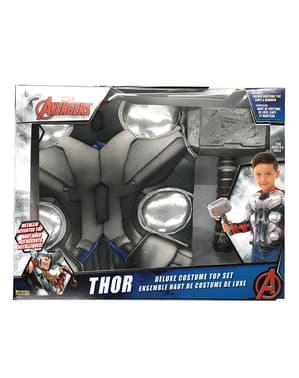 Fato de Thor Os Vingadores musculoso para menino em caixa