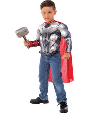 Disfraz de Thor Los Vengadores musculoso para niño en caja