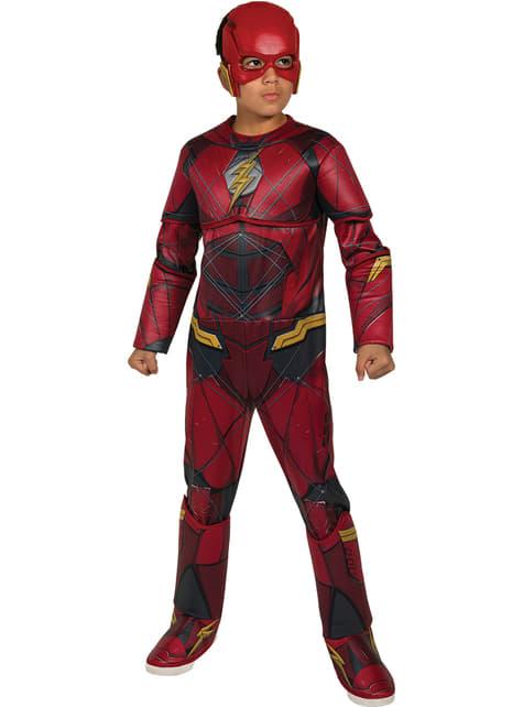 Fato de Flash A Liga da Justiça premium para menino