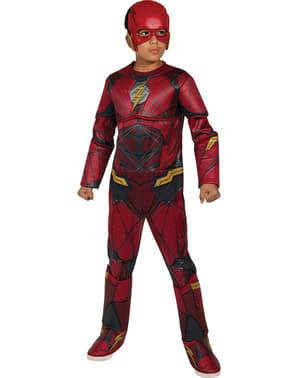 Costum Flash Liga Dreptății premium pentru băiat