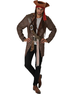 Prestisje Dead Men Tell No Tales Jack Sparrow kostyme for menn