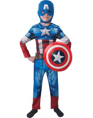 Kostum The Avengers Captain America untuk anak laki-laki (Kotak)