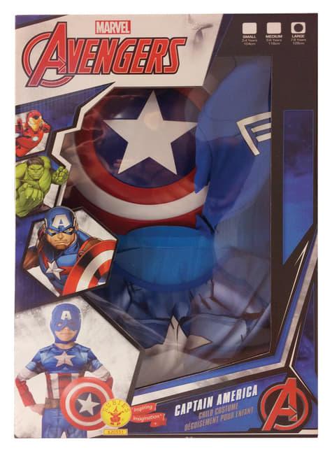Disfraz de Capitán América Los Vengadores para niño en caja - infantil