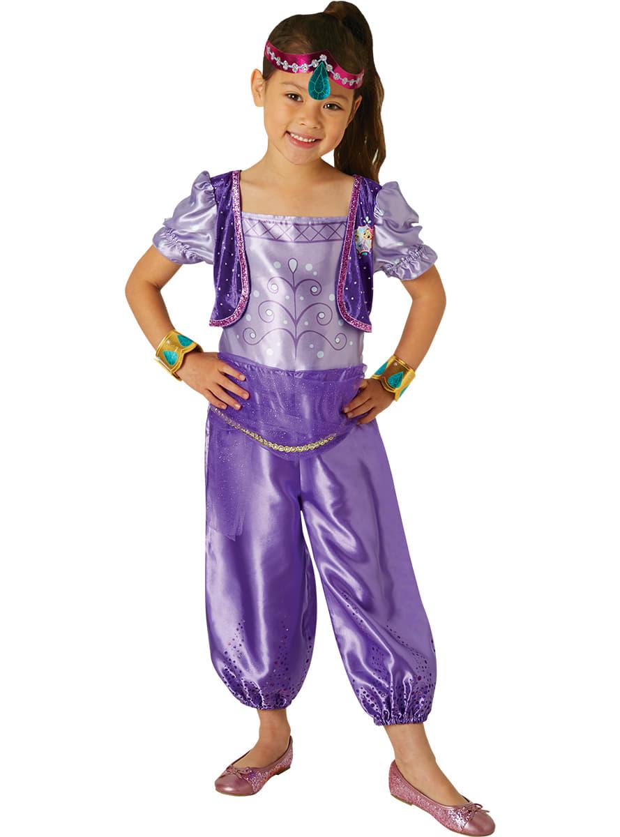 shimmer and shine shimmer costume for girls detalle zoom