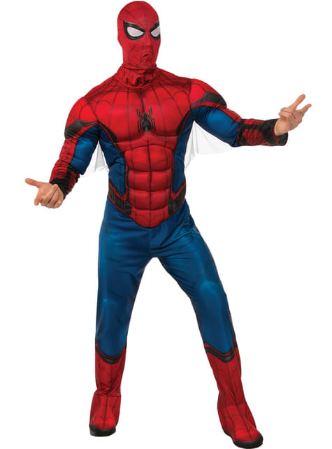 Disfraz de Spiderman Homecoming musculoso para hombre