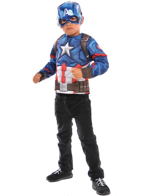 Costum Captain America în cutie pentru băiat