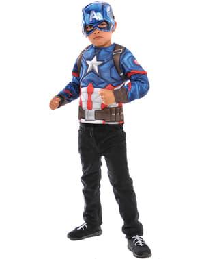 लड़कों के लिए कप्तान अमेरिका की पोशाक (बॉक्स में)