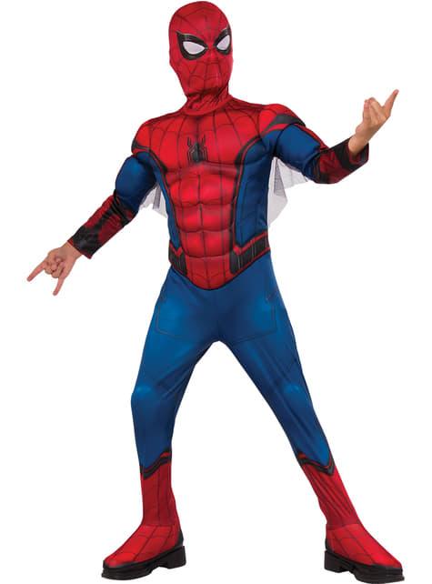 Fato de Spiderman Homecoming musculoso em caixa para menino