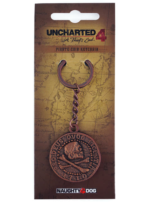Uncharted 4: A ThiefŽs End Pirate Coin Keychain