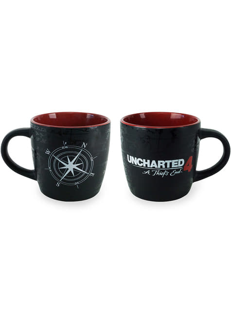 Uncharted 4: A Thief's End Compass Map Mug