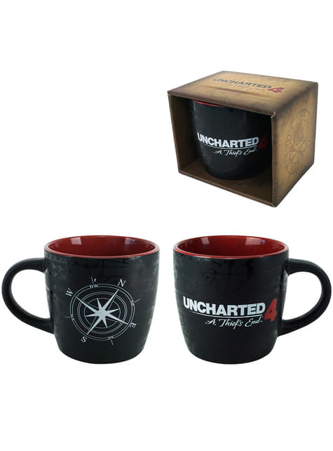 4 Uncharted: ספל מפת מצפן סוף הגנב