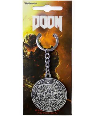 Klíčenka s pentagramem Doom