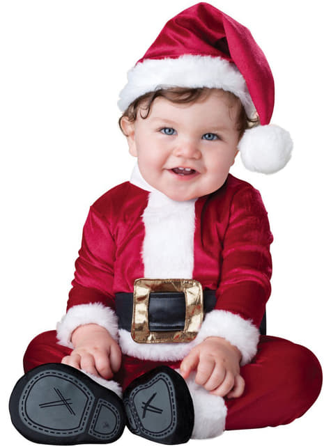 Fato de Pai Natal Deluxe bebé