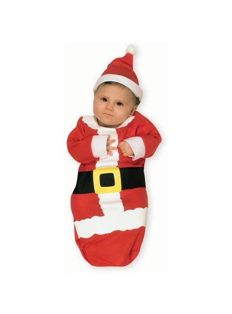 Julemandssæk kostume til babyer