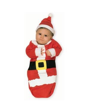 Costum Moș Crăciun săculeț pentru bebeluși