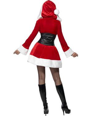 Weihnachtsfrau Kostüm sexy mit Kapuze