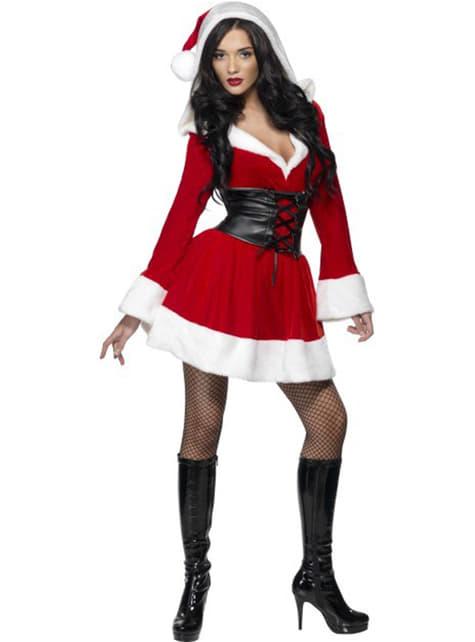 Costum de Crăciuniță Glugă Sexy