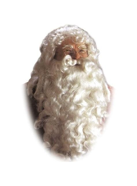 Mahtava Valkoinen Joulupukki-peruukki ja -parta