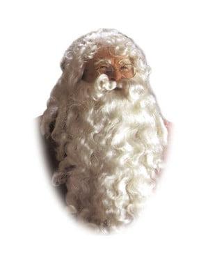 Keiserlig Hvit Julenisseparykk og Skjegg