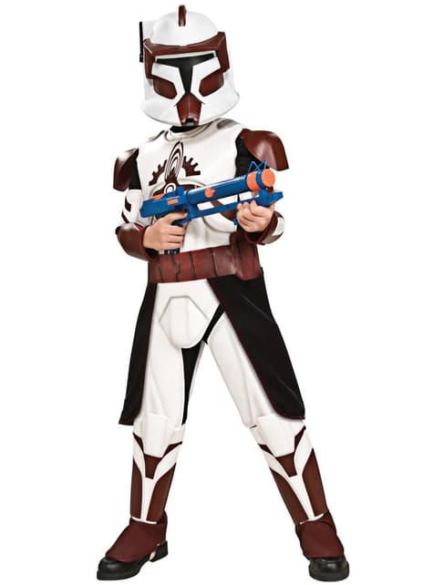 Costum Comandantul Fox deluxe pentru băiat
