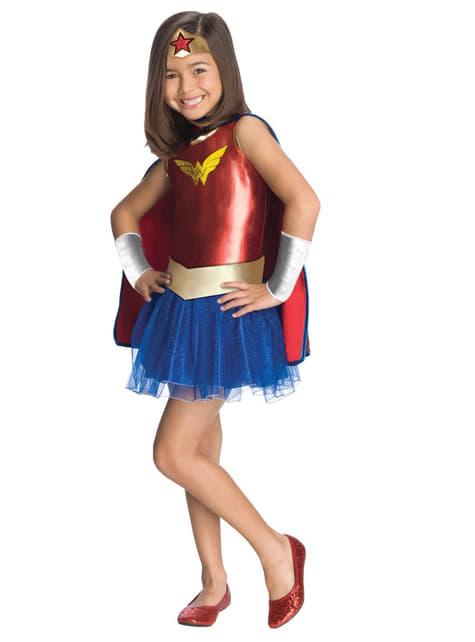 Fato de Wonder Woman Tutu para menina