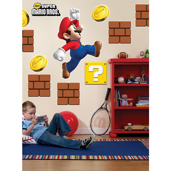 decoraci 243 n gigante de pared super mario bros comprar online super mario bros wall graphics with super mario wall