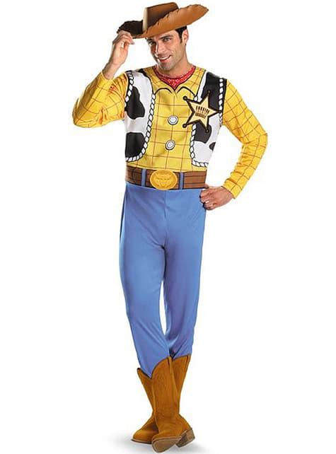 Fato de Woody Toy Story classic para adulto