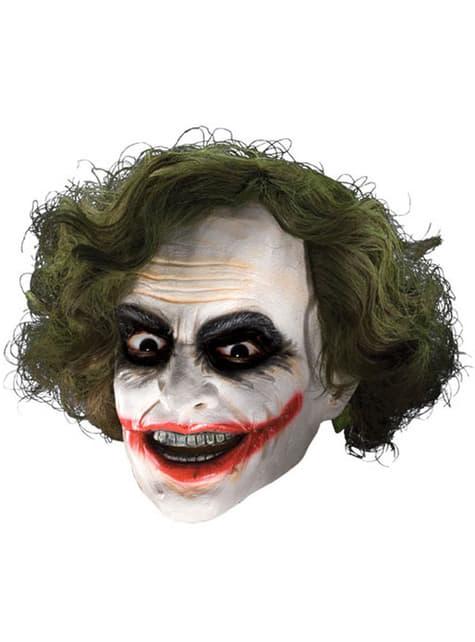 Joker 3/4 maske i vinyl med paryk til børn