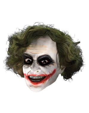 Mască 3/4 de vinil Joker cu perucă pentru băiat