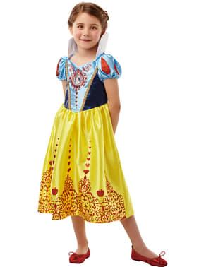 Deluxe Snøhvit klassisk kostyme for jenter
