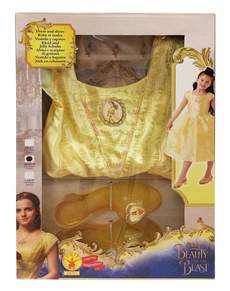 Classic Belle costume from Beauty and the Beast in box for girls
