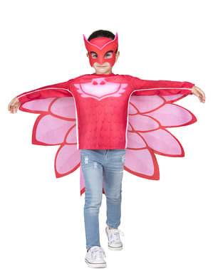 Sada masky a kostýmu v krabici Sovička Owlette pro děti Pyžamasky Pj Masks