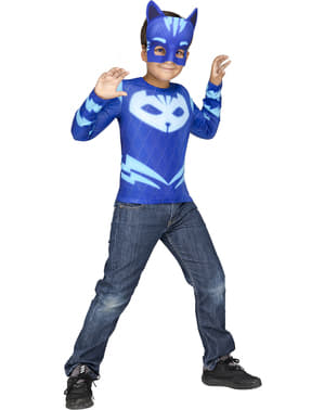Súprava kostýmov Catboy PJ Masks v krabičke pre chlapcov