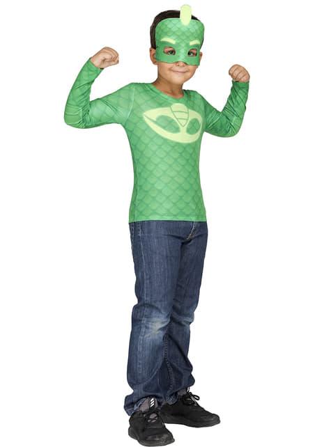 Kit costum Șopi PJ Masks in cutie pentru băiat