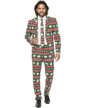 """Коледен костюм """"Festive Green""""– Opposuits"""