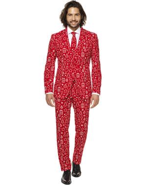 Costum barbați Crăciun roșu