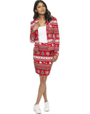 Costum femeie Crăciun roșu