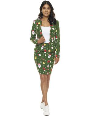 Costum femeie Crăciun verde