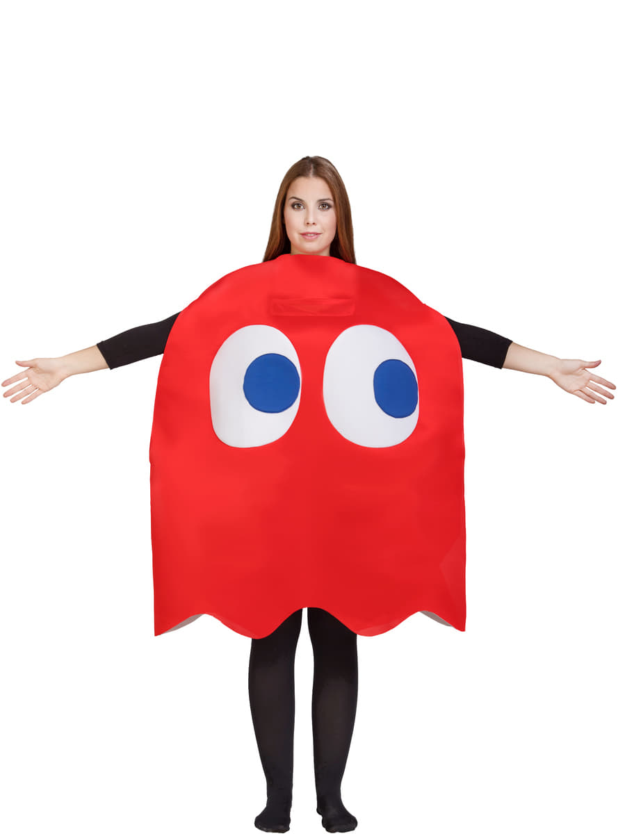 red ghost from pac man blinky costume for adults pac. Black Bedroom Furniture Sets. Home Design Ideas