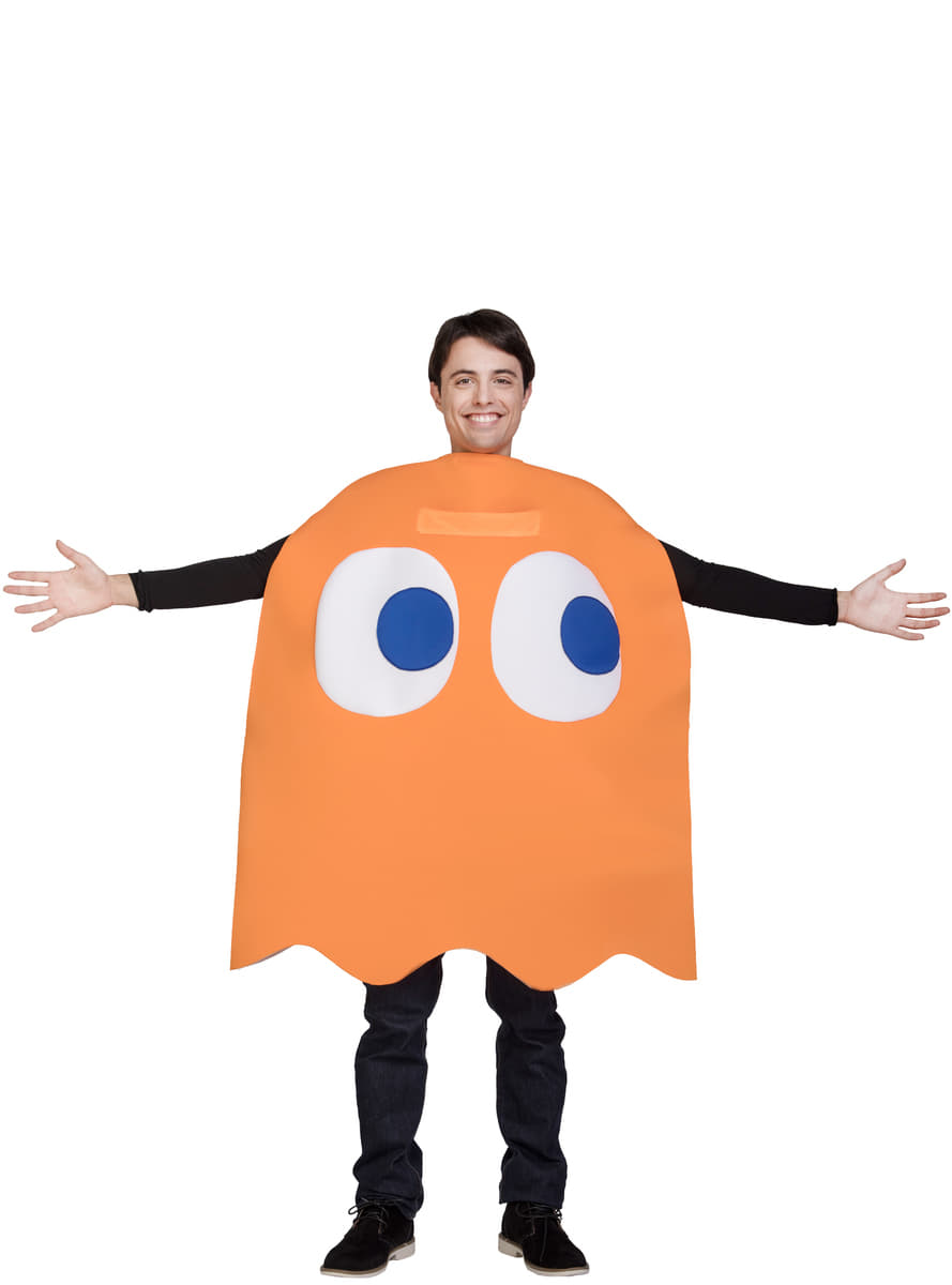 Pac-Man Clyde Ghost Costume for adult. Fast delivery ...